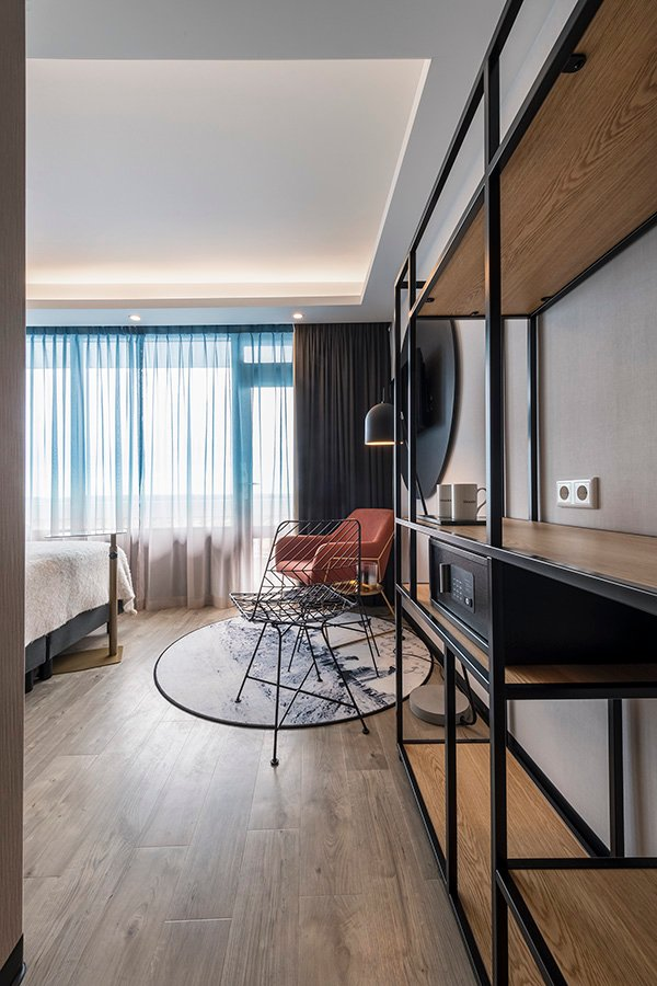 Interieurarchitect hotelkamer